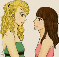 Faberry Prom by lemonpie-art