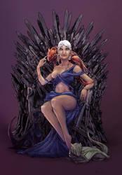 'Princess Daenerys on the Iron Throne' Colors by strangeworlder