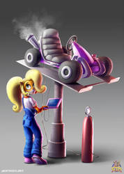 Coco Bandicoot CTR by Farbentt-Wickler