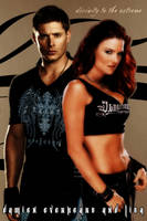 WWE - Damien Everheart, OC, and Lita by KamenRiderReaper