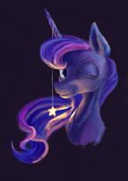 Luna and a star by Plainoasis