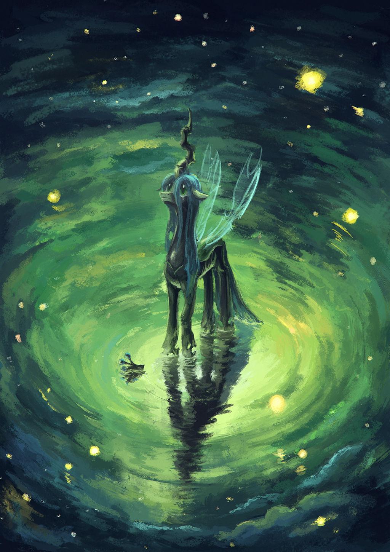 Chrysalis' starry sky by Plainoasis