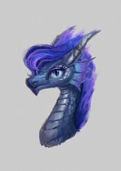 Princess Luna dragon portrait by Plainoasis
