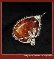 Dragon-fly pendant by bodaszilvia