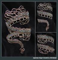 japanese dragon bracelet by bodaszilvia