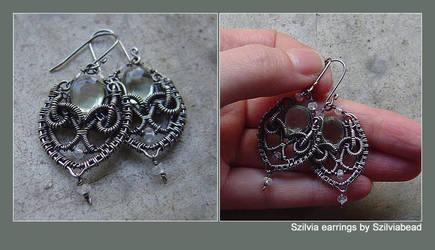 Szilvia earrings by bodaszilvia