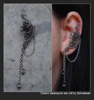 Chains steampunk ear cuff by bodaszilvia