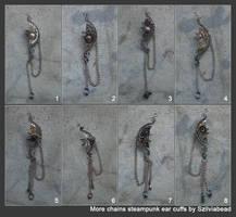 8 chains steampunk ear cuffs by bodaszilvia