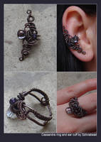 Cassandra ear cuff and ring by bodaszilvia