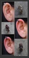 Tiny ear cuffs by bodaszilvia