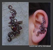 Autumn ear cuff by bodaszilvia