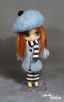 Petite Blythe winter coat and beret by bodaszilvia