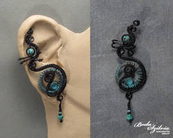 Steamgoth ear cuff by bodaszilvia