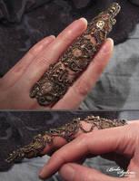 Steampunk armor ring by bodaszilvia