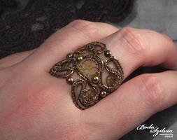 Steampunk ring by bodaszilvia