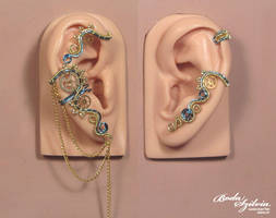 Electric steampunk ear wrap set by bodaszilvia
