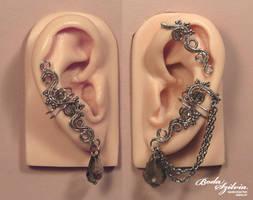 Ghost ear wrap set by bodaszilvia