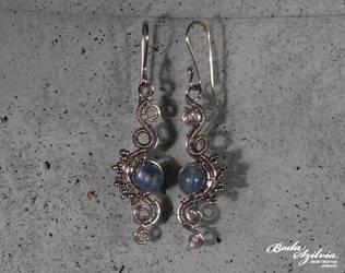 Naiad earrings by bodaszilvia
