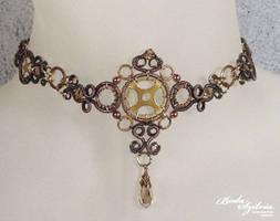 Steampunk choker necklace by bodaszilvia