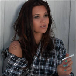Emilie - American Girl et cigarette by winnof