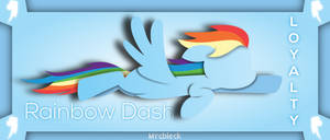 Rainbow Dash- Element of Loyalty by MrCbleck