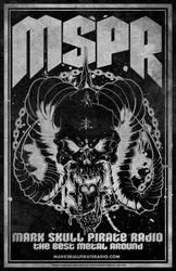 MSPR - Mark Skull Pirate Radio - Skull of DEATH by luvataciousskull