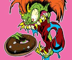 Donut Fink! by luvataciousskull