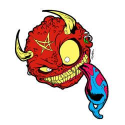 Demon Madball by luvataciousskull