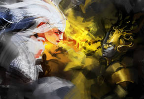 Fighting Gods by MartinCi