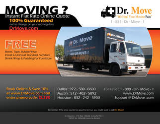 flyer for dr move by ishee
