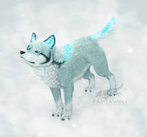 Random Ice Wolf - Miroz by RamzaWolf