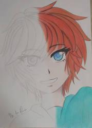 pSketch x colored drawing by ChaosAna13