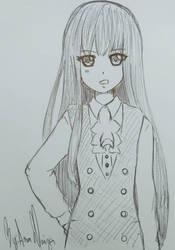 (FANART) Ririchiyo Shirakiin  by ChaosAna13