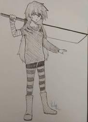 sword girl #2 by ChaosAna13