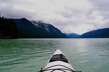 Kayak on Chilkoot Lake by BrokenSpaceAngel