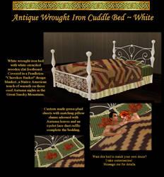Wrought Iron Bed in White by IrishSkye