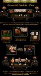 Autumn Lake Couch and Table Set by IrishSkye