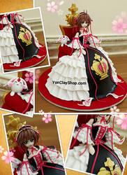 Sakura Hime - Handmade Clay Figure by yonkairu