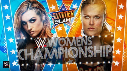 WWE SummerSlam 2019 Custom Match Card HD by BlackKW