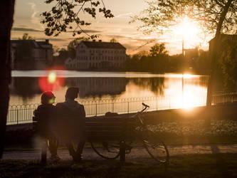 Biker romance by photodeus