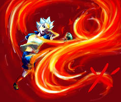 Inazuma _ The Flame striker by LuCiFelLo