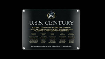 USS Century NCC-81921 Dedication Plaque by anno78