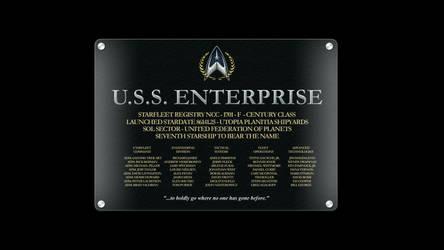 USS Enterprise NCC-1701-F Dedication Plaque by anno78