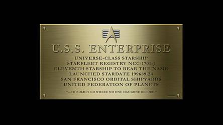 USS Enterprise NCC-1701-J Dedication Plaque by anno78