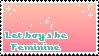 Feminine boys exist by babykttn