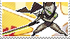 Pixel spray stamp: Genji by babykttn