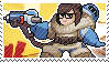 Pixel spray stamp: Mei by pulsebomb