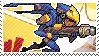 Pixel spray stamp: Pharah by pulsebomb