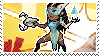 Pixel spray stamp: Symmetra by babykttn