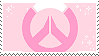 Pink overwatch stamp by pulsebomb